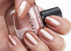Rose Gold for the nails: The Beauty Look Book: Marc Jacobs Beauty Enamored Hi-Shine Nail Lacquer: Le Charm #112