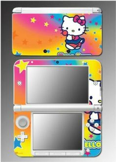 b9241cc6e0d5 Cute Kitty Pink Hearts Rainbow Princess Girl Video Game Skin 10 Nintendo XL  in Video Games   Consoles