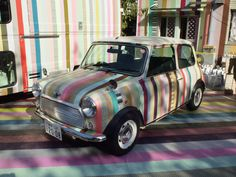 washi tape on a late model MINI Cooper - and everywhere else... | by polkaros on flickr