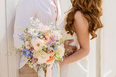 Afbeeldingsresultaat voor bruidsboeket perzik