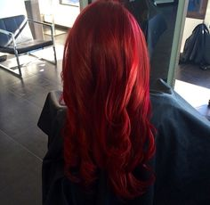 Bright red hair goldwell color