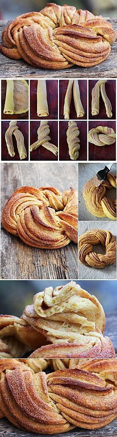 Estonian Braided Cinnamon Bread Is A Beautiful Miracle This gorgeous creature is called a kringel. Bread And Pastries, Delicious Desserts, Dessert Recipes, Yummy Food, Estonian Food, Braided Bread, Cinnamon Bread, Snacks, Bread Baking