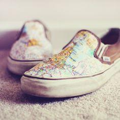 http://mandycrandell.blogspot.com    make your own #map #shoes