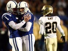 Ces photos prises au parfait moment - Super Bowl XLIV au Sun Life Stadium de Miami Gardens opposant les Saints de la Nouvelle-Orléans aux Colts d'Indianapolis, le 7 février 2010.