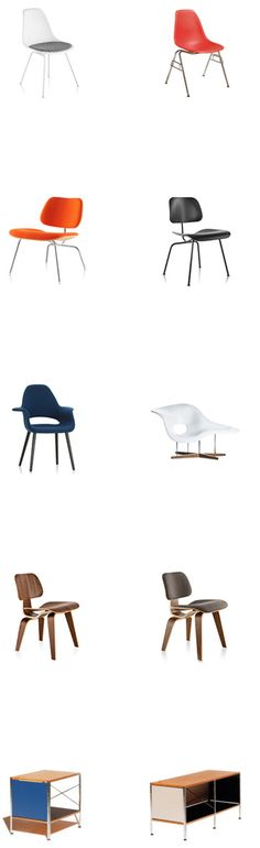 Authentic #Eames chairs in all shapes and sizes and colors!
