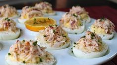 My Sweet Tooth: Crab Stuffed Deviled Eggs - Deviled Eggs with Crab Recipe