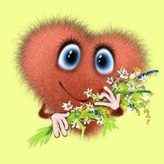 Fluffy postcard from Leo Barteneva. Page 1 Free Animated Gifs, Gb Bilder, Drawing Wallpaper, Good Morning Wishes, Illustrations, Emoticon, Love Art, Giraffe, Decoupage