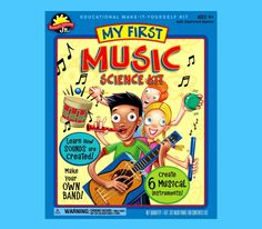 My First Music Science Kit - Scientific Explorer Hands On Set For Kids & Garden Toy Packaging, Packaging Design, Toys Logo, Unique Toys, Musical Toys, Science Kits, Teaching Music, Teaching Resources