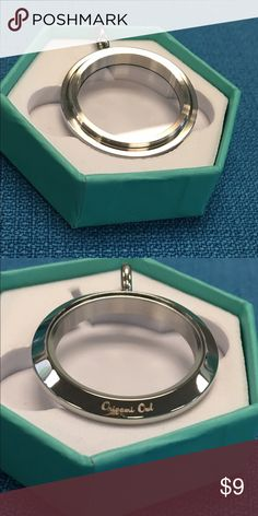 Origami Owl Silver Large BASE ONLY Authentic Origami Owl Silver Large BASE ONLY.  You will need to purchase a Large Face to complete your Locket. Origami Owl Jewelry Necklaces