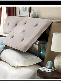 Hidden Storage, Storage Spaces, Storage Headboards, Headboards Storage ...