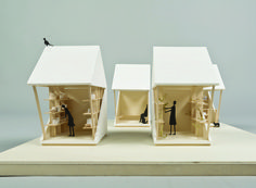 luna perschl rethinks earthquake recovery shelter with pocket house _ designboom _ architecture Pavilion Architecture, Interior Architecture, Japan Architecture, Architecture Models, Chinese Architecture, Sustainable Architecture, Residential Architecture, Contemporary Architecture, Landscape Architecture