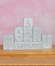 Take a look at the 'Merry Christmas' Block Sign Set on #zulily today!