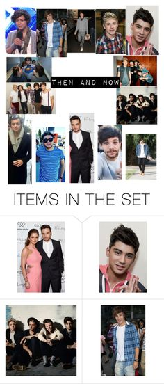 """Then and now"" by emogirl9160 ❤ liked on Polyvore featuring art and OneDirection"