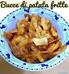 BUCCE DI PATATA FRITTE #ricettadelgiorno #food #loscrignodelbuongusto #passionecucina #contorno #patate #patatefritte #ricettaantispreco #cena #cenaitaliana