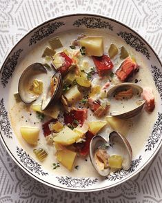 Start with American classics like creamy New England clam chowder, then explore our international recipes for French and Italian seafood soups and stews Clam Recipes, Chowder Recipes, Seafood Recipes, Soup Recipes, Dinner Recipes, Shellfish Recipes, Dinner Dishes, Restaurant Recipes, Recipes