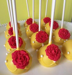 12 Belle Inspired Cake Pops by LalasSweets on Etsy
