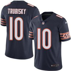 Nike Bears #10 Mitchell Trubisky Navy Blue Team Color Men's Stitched NFL Vapor Untouchable Limited Jersey