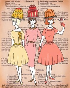 Which requires more talent - constructing a towering masterpiece of gelatine, or balancing it on your head while modeling the latest fall fashions?