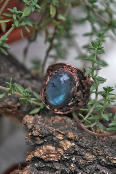 Labradorite ring long shape Thistle by AnnTitovaDesign on Etsy