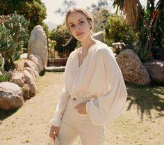 minimal, feminine, monochromatic   top by Doen