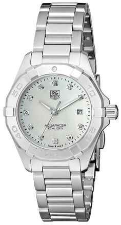 Amazon.com: TAG Heuer Women's WAY1413.BA0920 300 Aquaracer Silver-Tone Stainless Steel Watch: Tag Heuer: Clothing
