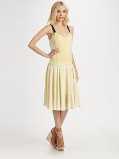 $695   See by Chloe  Sleeveless Contrast Trim Dress