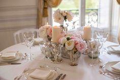 Idées déco mariage bohème chic : centre de table