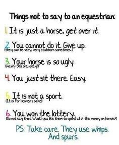 Things not to say...