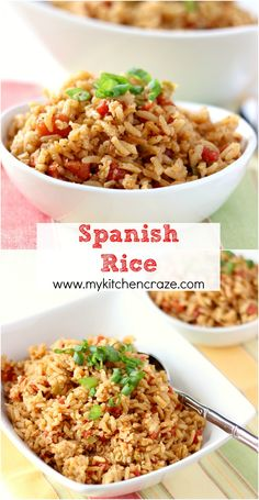 Spanish Rice ~ www.mykitchencraze.com~ A quick, easy and delicious side dish that you're going to love.