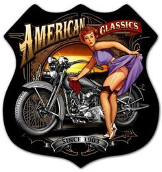 vintage pin up girls on motorcycles