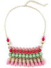 Multi+Bead+Tassel+Gold+Chain+Necklace+US$6.85