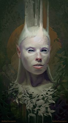 "eiruvsq: "" Illustrator & Artist: Robbie Trevin ""Yolandi"" ""  ""Oh hey, I made an art. This is Yolandi, you know what she told me? She told me she finks u freeky."" """
