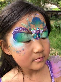 Butterfly Face Paint, Face Paintings, Face And Body, Mermaids, Pirates, Body Art, Diy And Crafts, Bling, Creative