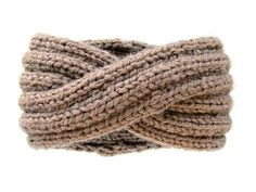 Wool-Ease Thick & Quick and 6.5 mm needles give a warm, chunky headband that feels SOO good. I adjusted the lengths of the sections to my head as I went to size it. http://knitsforli...