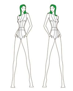 Female Fashion Figure Croqui 010