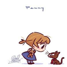 David Gilson Disney Chibi Penny & Rufus