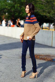 Jason Wu Striped Sweater   Street Fashion