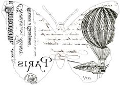 Fabulous French Butterfly Typography Transfers!