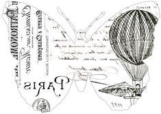 Franceses de la mariposa de la tipografía Transferencias // los gráficos de hadas