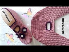 Booties Crochet, Crochet Shoes, Crochet Art, Baby Booties, Knitted Slippers, Slipper Socks, Create A Person, Wedge Pillow, Moda Emo