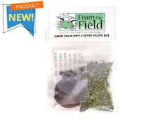 """Got a green thumb? This perfect """"grow your own"""" catnip plant kit includes full directions, catnip seeds, one peat pellet disk and a small sample of catnip. The plant grows to maturity between 45 to 90 days and reaches a height of 3 feet tall maximum. Our """"grow your own"""" catnip kit is fun and educational!"""