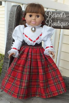 American Girl Doll clothesVictorian Christmas by BernetsBoutique, $28.00