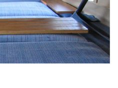"""Increased padding on penhouse beds with 1.5"""" memory foam. Much better! Easy mod.    There is a slight interfearance between the last 6"""" of the PH bed...it gets compressed by the spring cover. Fortunately, memory foam is very compliant and compresses nicely without major resistance."""