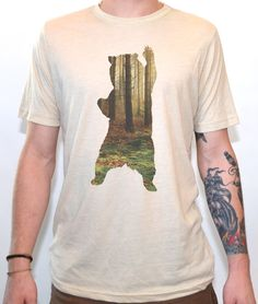 bear in the woods t shirt - Ideas For Shirt Designs