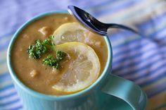 Lemon chickpea lentil soup.