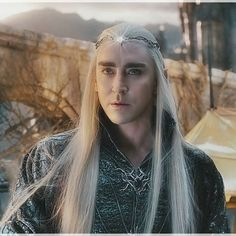Thranduil at Dusk....The gem on his brow   like a star. Thorin, not Thranduil, has opted for War over Peace, and there's no turning back for Thranduil. Elves.