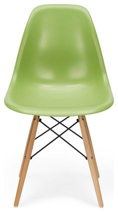Green Eames Contemporary Chair Front contemporary furniture