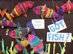 """""""Stuffed"""" newspaper fish is a great recycling project at any time of year!"""