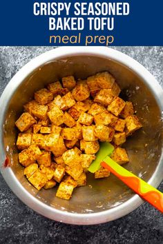 This baked tofu recipe is has a delicious seasoning and gets golden and crispy as it bakes up. Delicious as a snack or entree, and so easy to prepare! Vegan & gluten-free. Baked Tofu, Free Meal, Tofu Recipes, Vegan Gluten Free, Sweet Potato, Entrees, Meal Prep, Prepping, Tasty