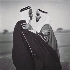 Rashid bin Saeed bin Maktoum Al Maktoum y Zayed bin Sultan Al Nahyan. Vía: dxb417